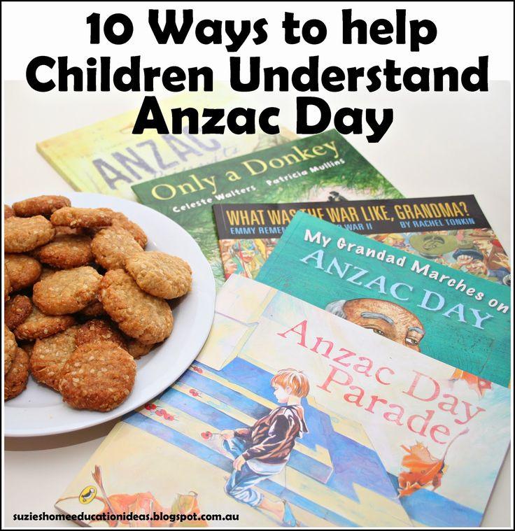Suzie's Home Education Ideas - 10 Ways to help Children Understand Anzac Day