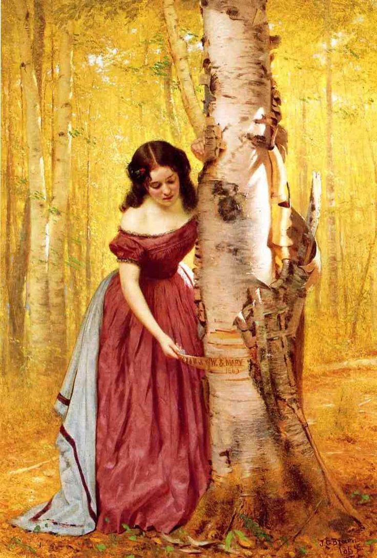 'Así perezca la memoria de nuestro amor' (1865) de John George Brown (1831-1913)