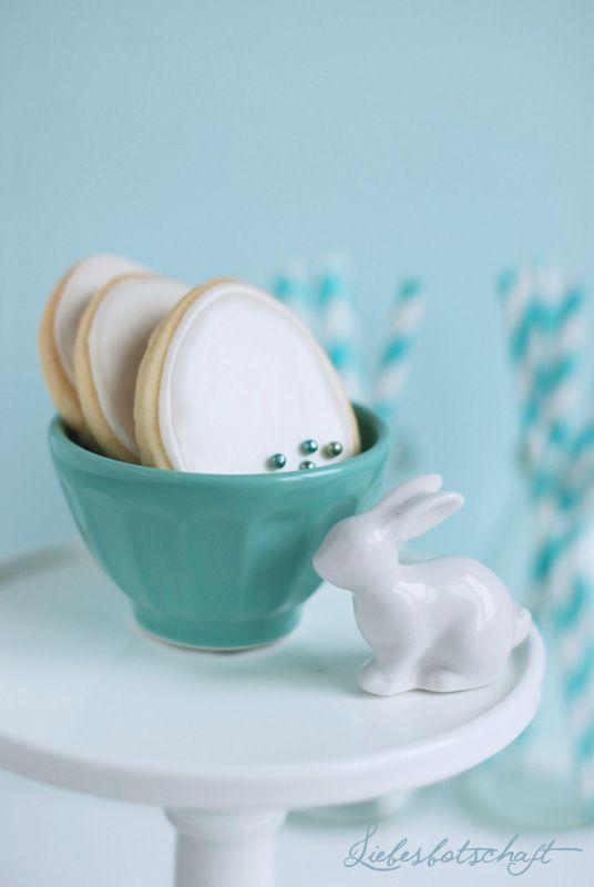 Liebesbotschaft: Oster-Kekse