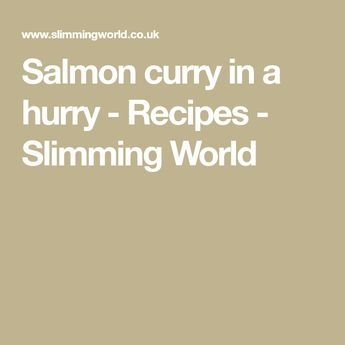 Salmon curry in a hurry