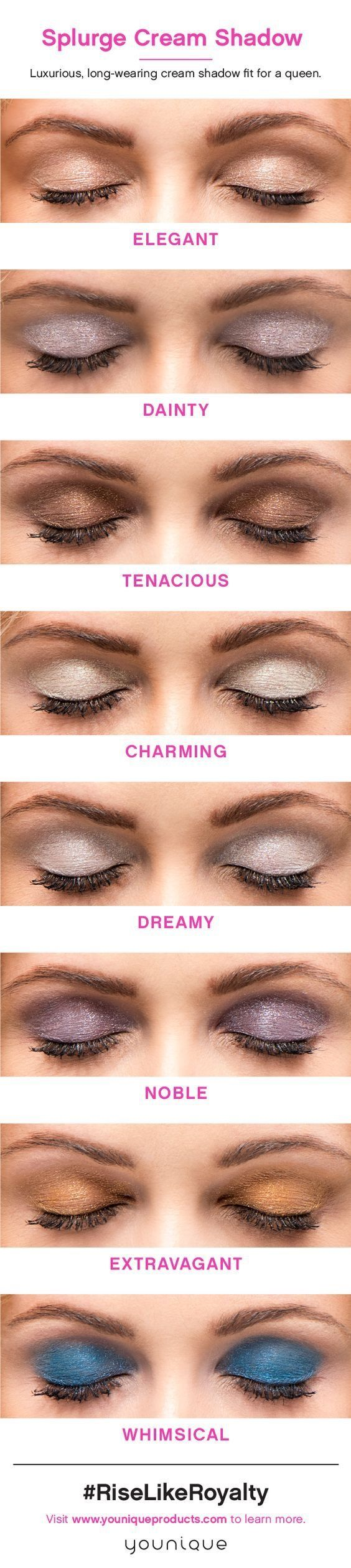 Youniques Splurge Creme & they different shades! Get your match & make those eyes POP!
