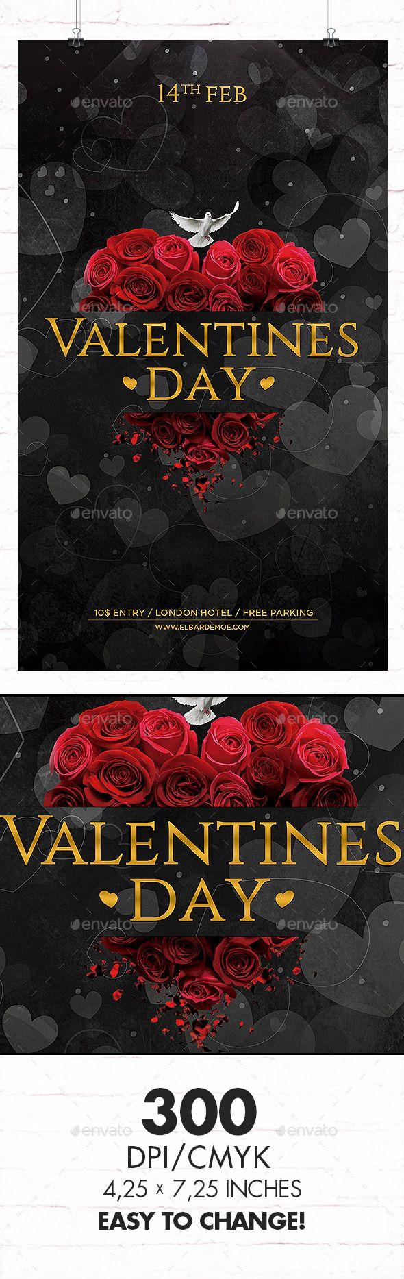 Valentines Day Flyer Template #design Download: http://graphicriver.net/item/valentines-day-flyer/10038866?ref=ksioks