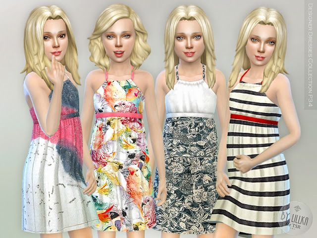 Sims 4 CC's - The Best: Designer Dresses Collection by Lillka