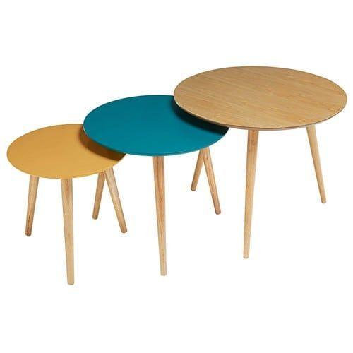 3 tables gigognes tricolores