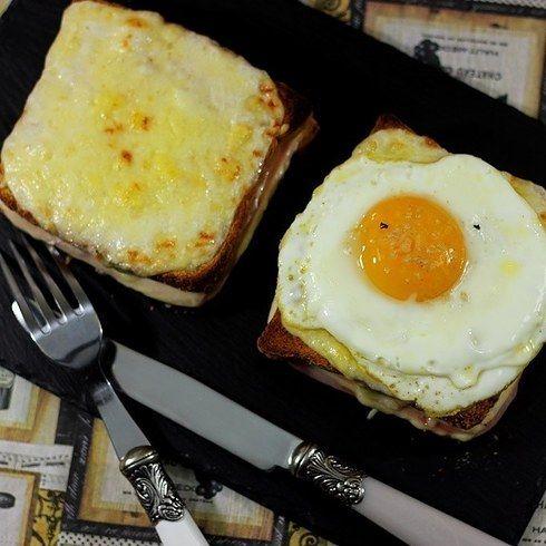 Prepara un desayuno parisino con un Croque-Monsieur y Madame.   16 Deliciosas recetas de sándwiches tan fáciles que no te lo vas a creer