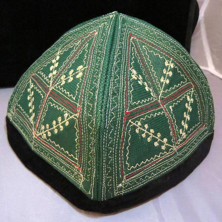 Handmade Traditional Silk Embroidered Uzbek Suzani Prayer Cap Hat Tubeteika