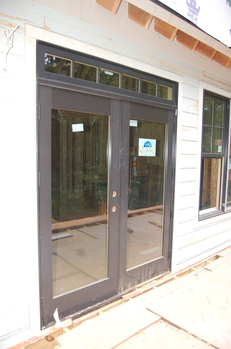Craftsman style exterior window trim - Craftsman Style Exterior Window Trim I Like The Windows Above The French Doors Great