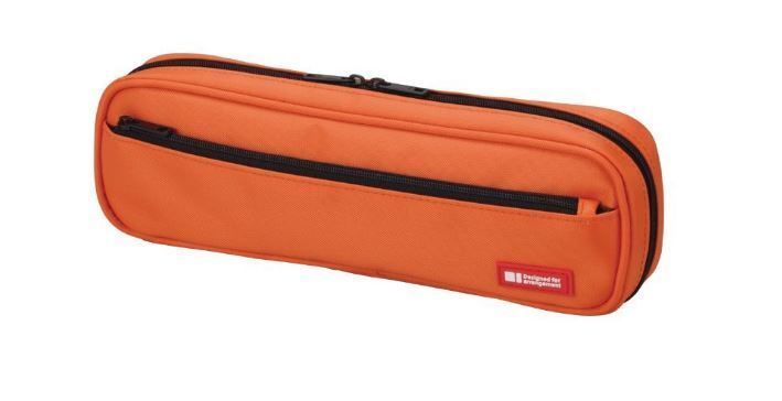 New Lihit Lab Teffa Pen Case Orange A7552-4 2way type Japan