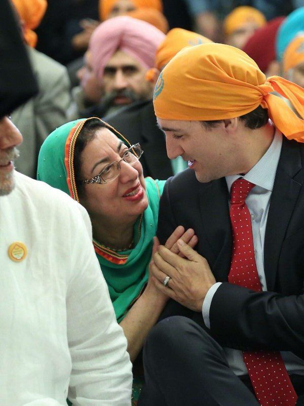 Canadian Prime Minister Justin Trudeau celebrating Vaisakhi with Sikh Canadians