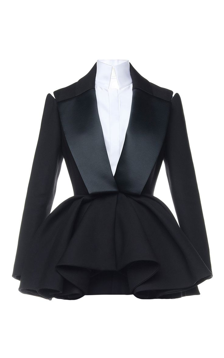 $20635 Smoking Peplum Jacket by Dice Kayek for Preorder on Moda Operandi