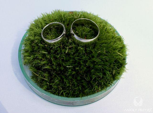 Irish theme Wedding,Grass pillow for rings/Irlandzkie wesele,Poduszka na obrączki ślubne z trawy,Anioły Przyjęć