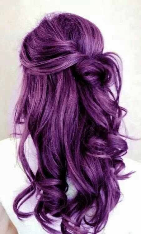 Like the style and purple hair color!