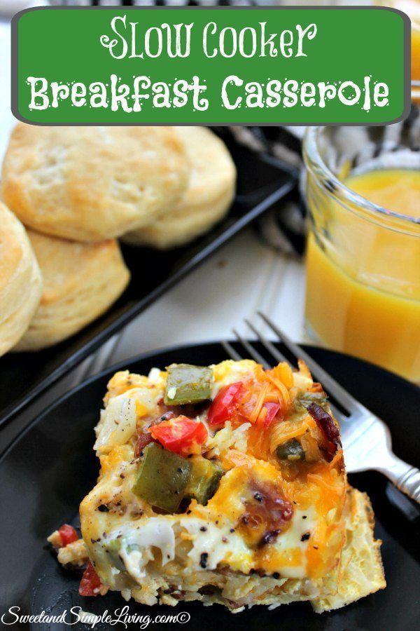 Slow cooker breakfast casserole recipe casserole for Crockpot breakfast casserole recipes