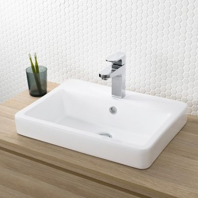 We like the style of this sink - but we don't want something too shallow. I also quite like the tiles in the background too.