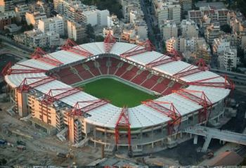 Georgios Karaiskakis Stadium. Athens, Greece. Home of Olympiacos. Built in 1896.