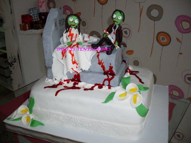 Tarta boda zombies.