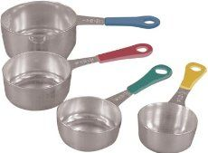 Fox Run 4839 Set of Four Stainless Steel Measuring Cups with Colored Handles