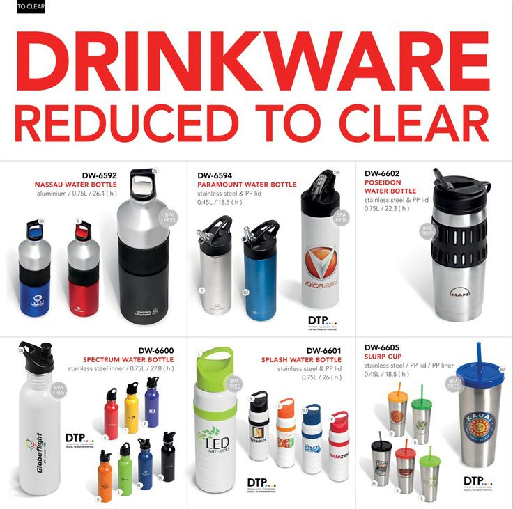 Drinkware Reduced To Clear