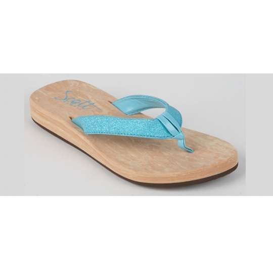 Short Hill Lino Design Girl's Hawaiian Blue Sandals – Twisted Palms Trading Co.