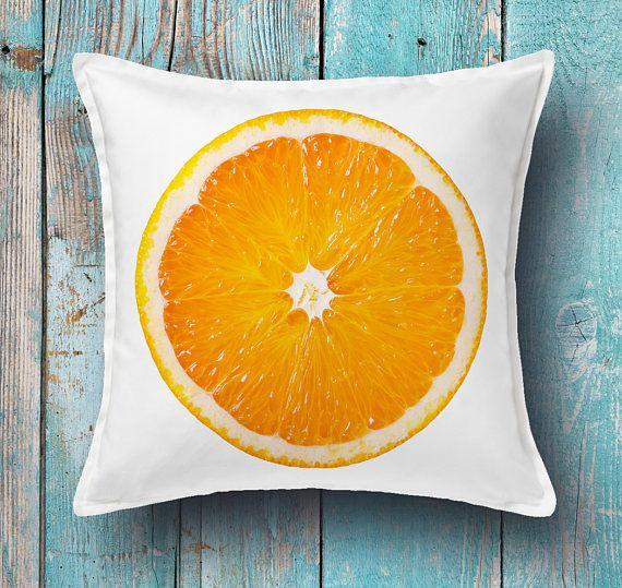 Orange cushion cover  decorative pillow cover throw pillow