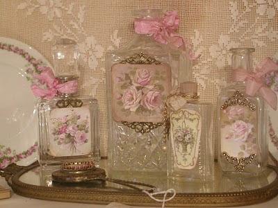 vidros de perfume vazios