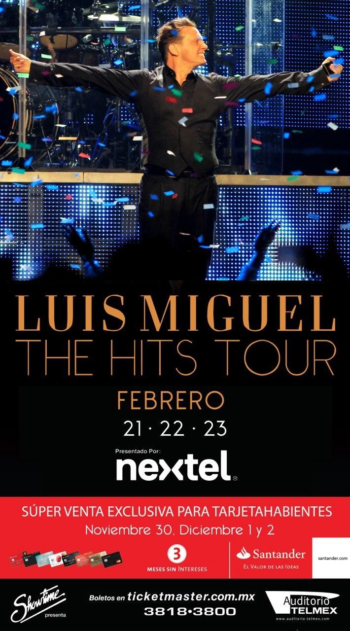 Luis Miguel - 20, 21 y 22 de Febrero, 5 y 6 de Marzo @ Auditorio Telmex http://www.ka-volta.com/events/luis-miguel-20-21-y-22-de-febrero-5-y-6-de-marzo-auditorio-telmex