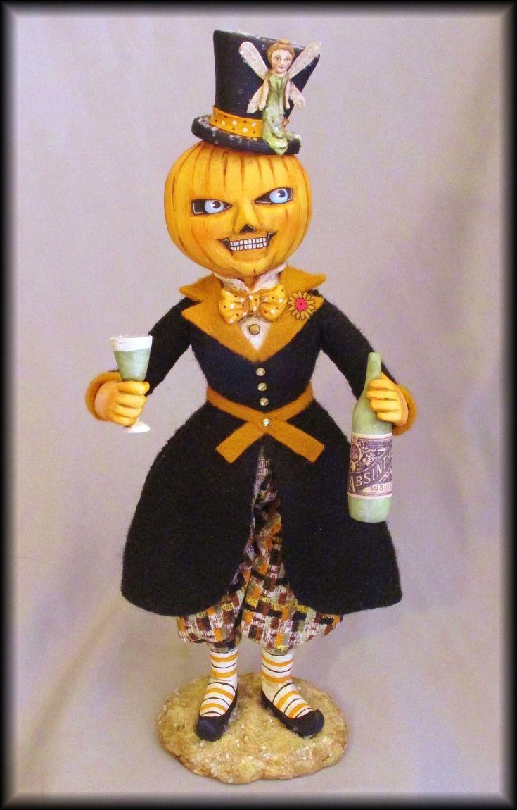 266 best Halloween and autumn art dolls images on Pinterest