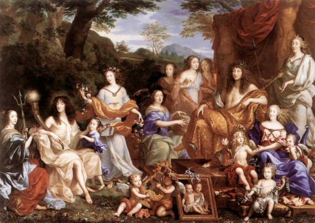 Jean Nocret, The Family of Louis XIV, 1670, Versailles, Chateau, portraits louis xiv
