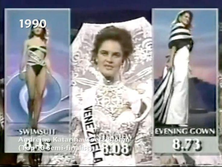 Miss Venezuela, momentos de las Preliminares en el Miss Universe 1990..