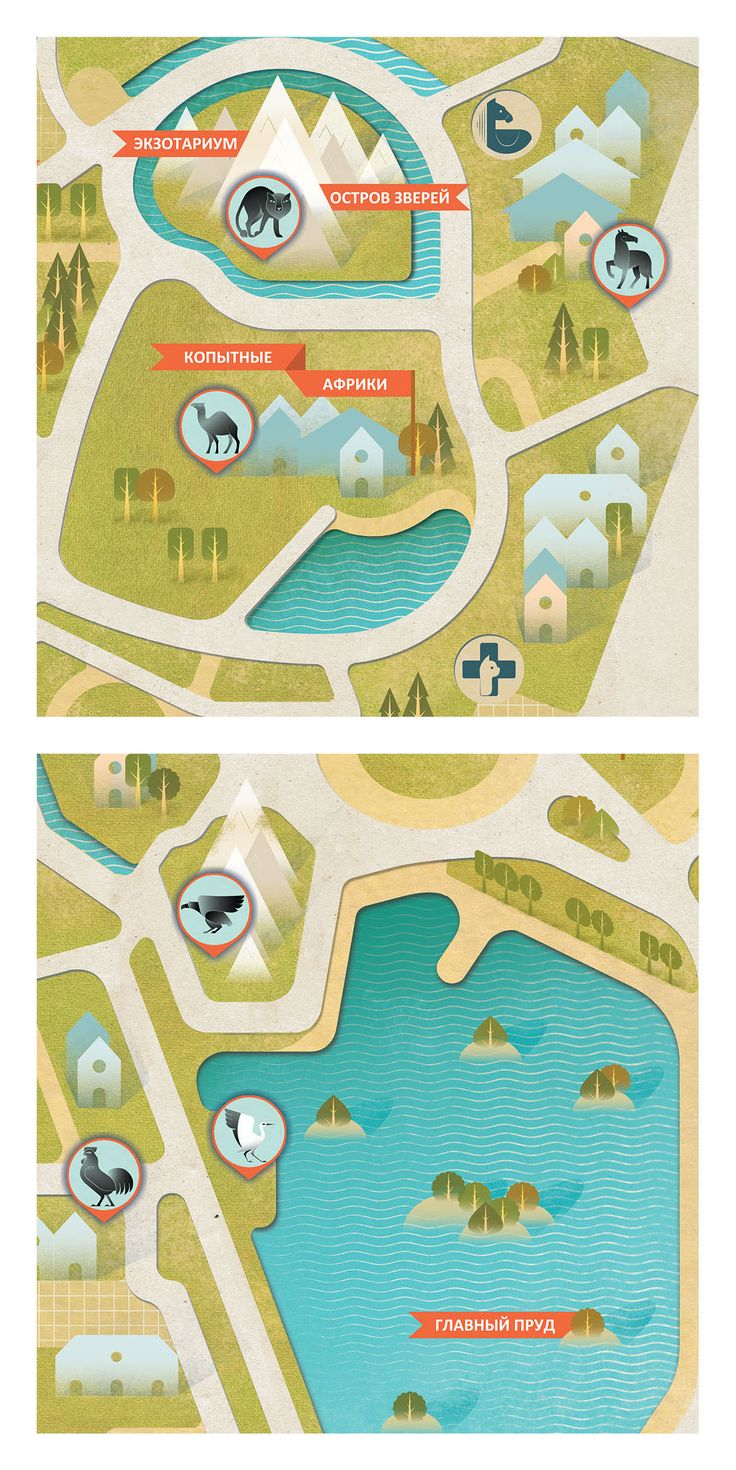 Zoo map on Behance