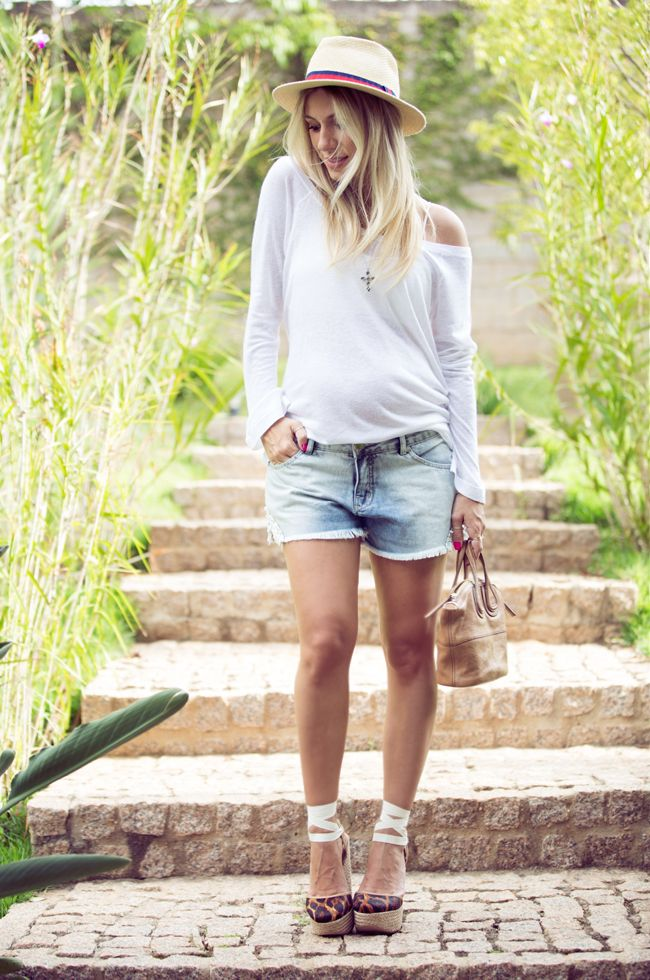 nati-vozza-look-com-short-jeans. 32 semanas.