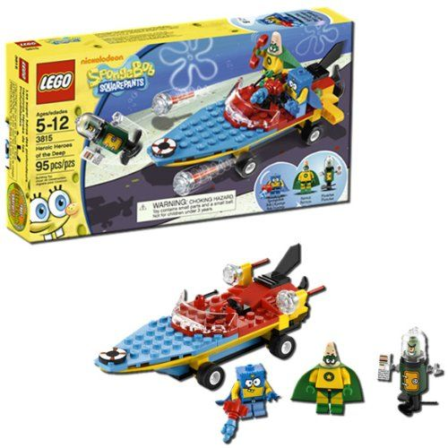 LEGO SpongeBob Heroic Heroes of the Deep 3815. A gift idea - toys for 5 year old boys. Read more at http://www.toys-zone.com/lego-spongebob-heroic-heroes-of-the-deep-3815/