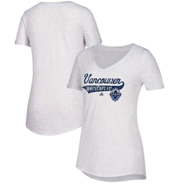 Vancouver Whitecaps FC adidas Women's Tail Stack V-Neck T-Shirt - White