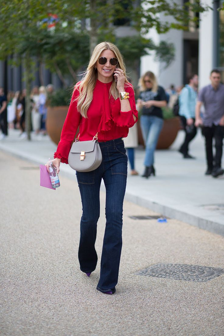 #JenniferFisher dark denim flares. London