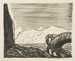 Oct. 3, 1778 – British Captain James Cook anchors in Alaska. Rockwell Kent, Alaska, 1919 |  Harvard Art Museums