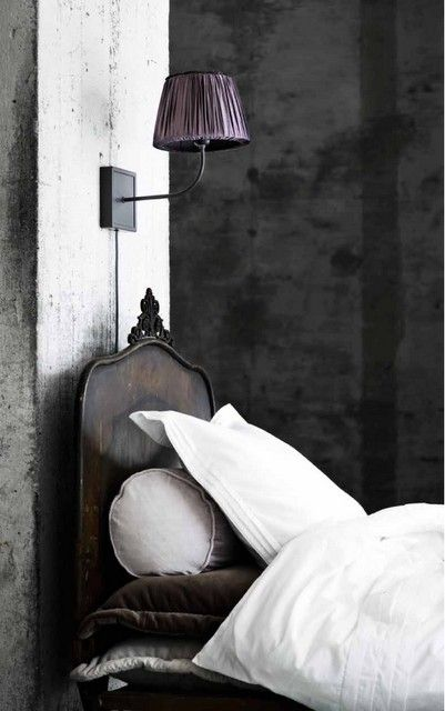 get that shape from chair from old mirror and fill with wood ... headboard ...