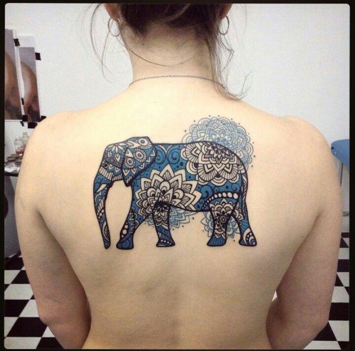 Amazing elephant mandala tattoo