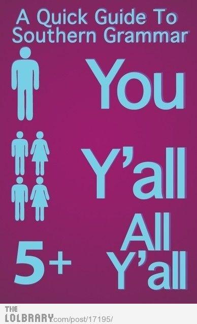 Yep!  Y'all get it right now ya hear?