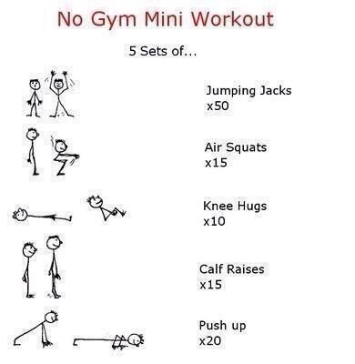 No gym mini workout - #Fitness, #Gym, #Workout