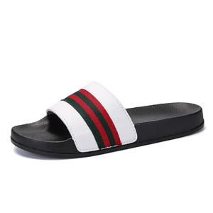 Men Slippers Summer Flat 2019 Summer Men Shoes Breathable Beach Slippers Wedge Black White Flip Flops Men Brand Slides Slippers