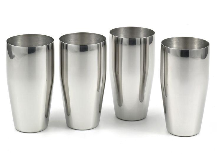 Lovely Stainless Steel Bar Glasses
