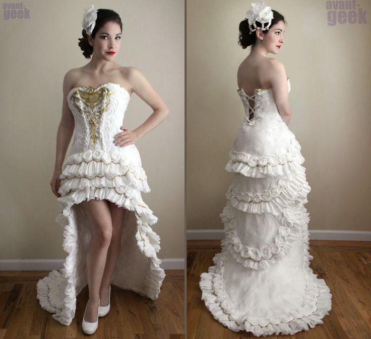 Il vestito da sposa creato da Olivia Mears, studentessa americana di belle arti…