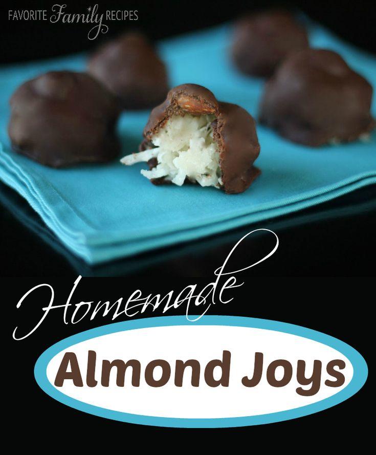 Homemade Almond Joys - Favorite Family Recipes