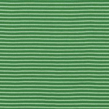Interlock Stripes - Juniper and White Skinny
