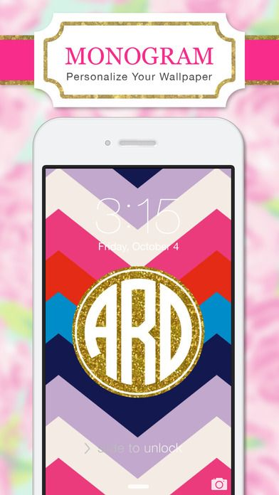 Monogram Wallpaper DIY Glitter Backgrounds Maker by Yellow Lab, Inc.