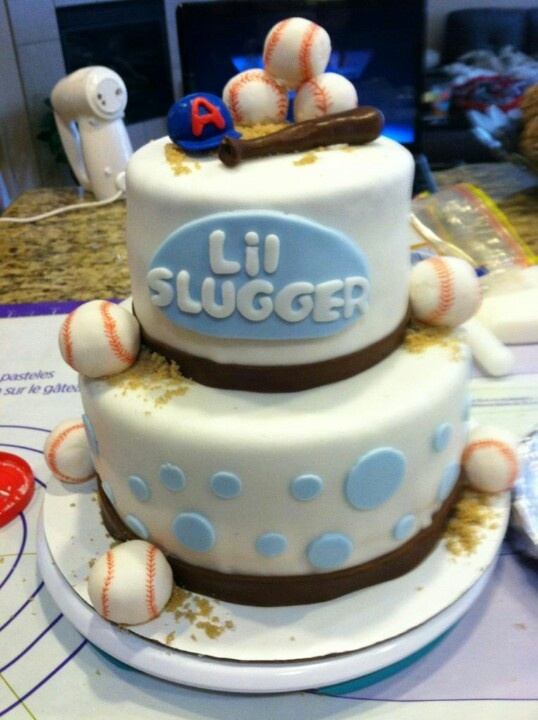 Baseball themed baby shower cake! | Cakes and Cupcakes ...