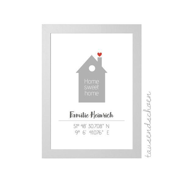 Digitaldruck – Home – Haus Geschenk zum Einzug, Ei…