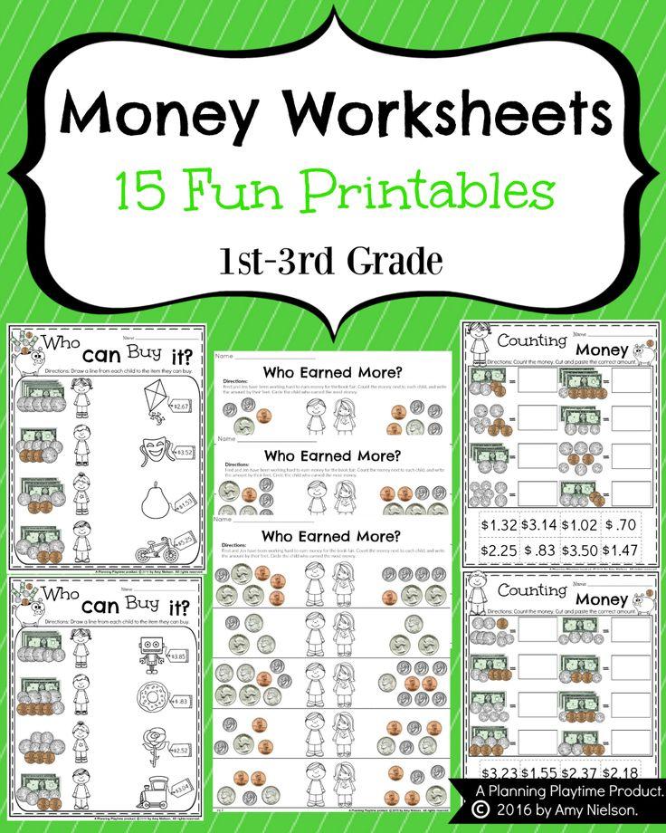 Money Worksheets for 2nd Grade | Money worksheets, 2nd ...