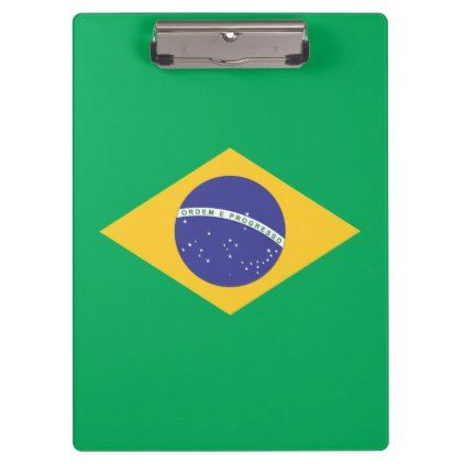 Brazil flag quality clipboard - diy cyo personalize special unique