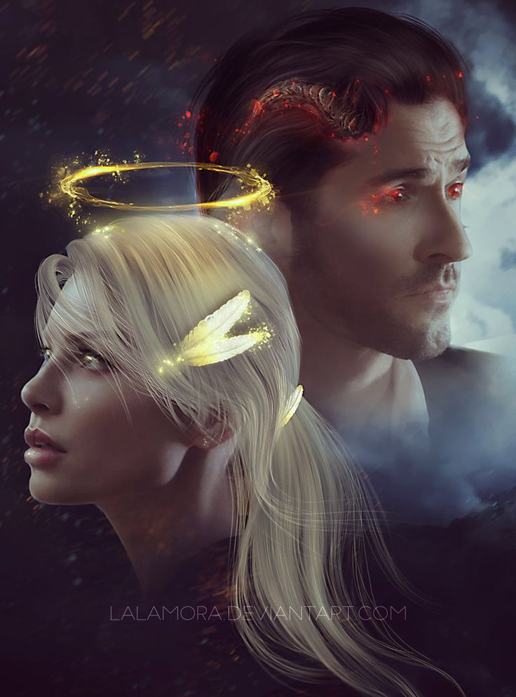 Lucifer and Chloe by LaLaMora.deviantart.com on @DeviantArt
